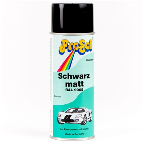 Populära Matt svart sprayfärg till lackering av fordon, möbler, balkar m.m. ZH-39