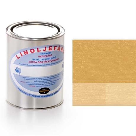 Vattenbaserad färg på linoljefärg